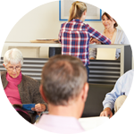Image of patients in waiting room